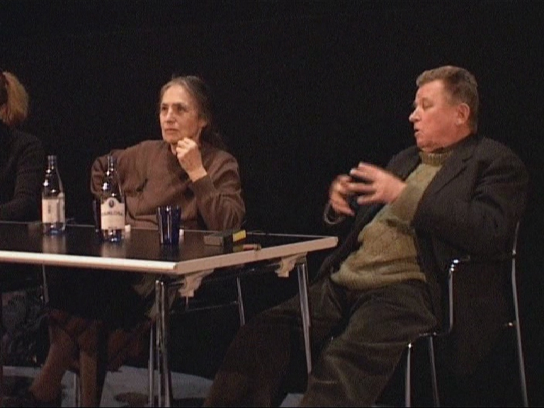 Danièle Huillet und Jean-Marie Straub 2004 in Stockholm