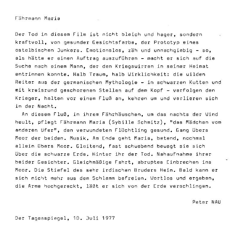 Peter NAU: Fährmann Maria