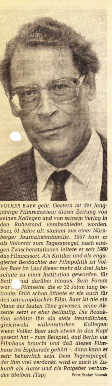 Volker Baer geht