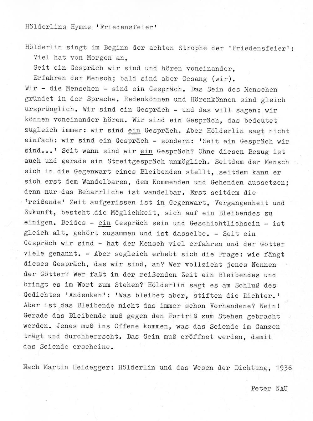 Peter NAU: Hölderlins Hymne »Friedensfeier« width=