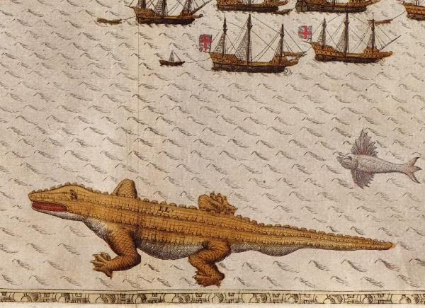 Baptista Boazio's illustrations of Francis Drake's West Indian Voyage, from 1589