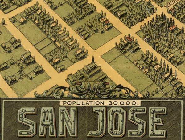 Stone Co.'s birdseye map of San Jose California from 1901