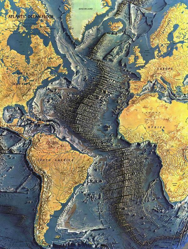 Atlantic ocean floor, National Geography 1968